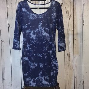 NWOT Plus Size Body Con Dress with Mesh Back/Sides
